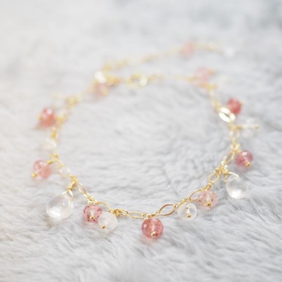 Kiichigo-White-Labradorite-Pink-Epidote-Bracelet