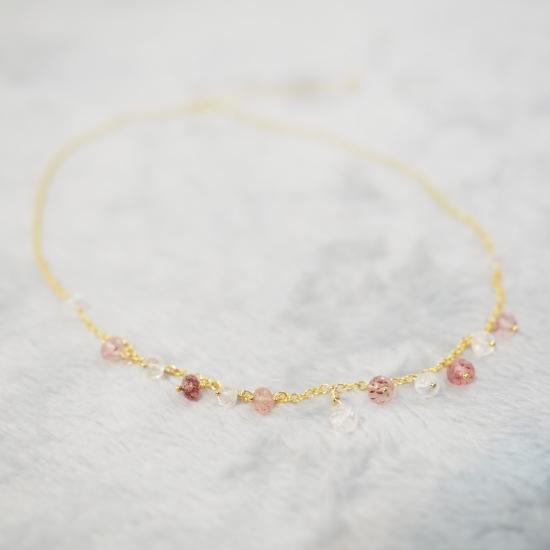 Kiichigo-White-Labradorite-Pink-Epidote-Necklace