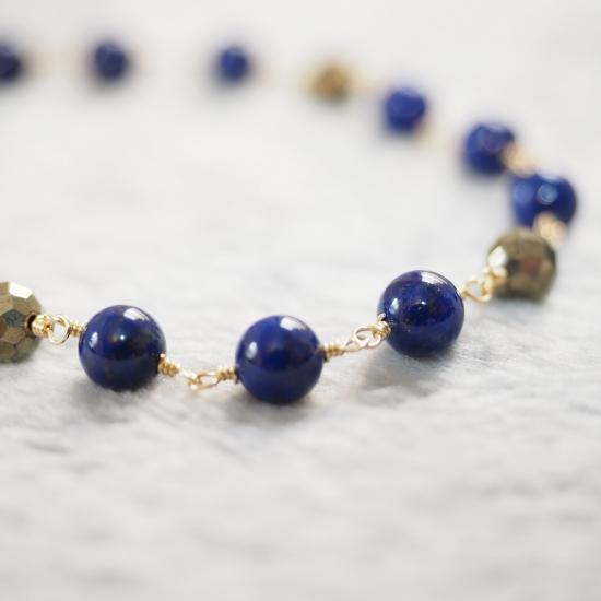 Lapis-Lazuli-Pyrite-Single-Bracelet