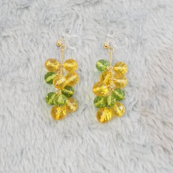 Mimosa-Yellow-Green-Amber-Chandelier-Earrings