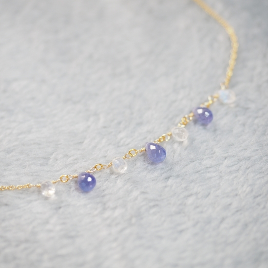 Tanzanite-White-Labradorite-Drop-Necklace