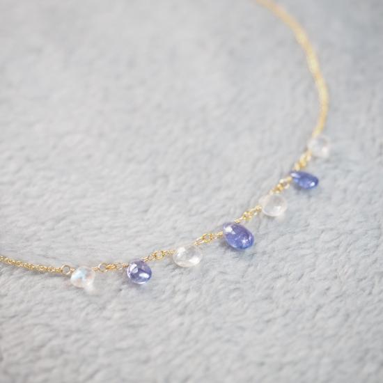 Tanzanite-White-Labradorite-Pear-Shape-Maron-Necklace